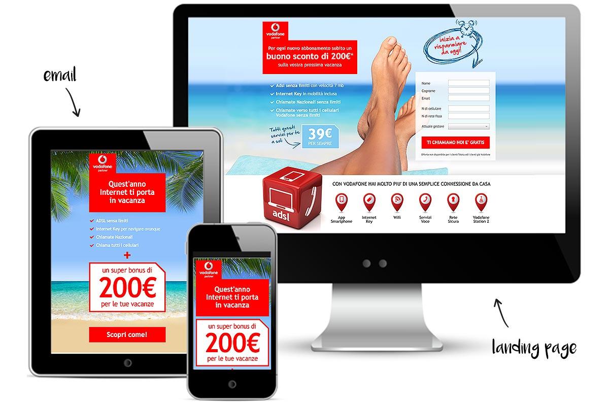 Vodafone Landing Page