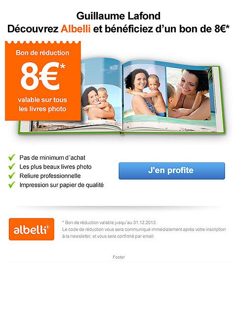 Albelli Email Design