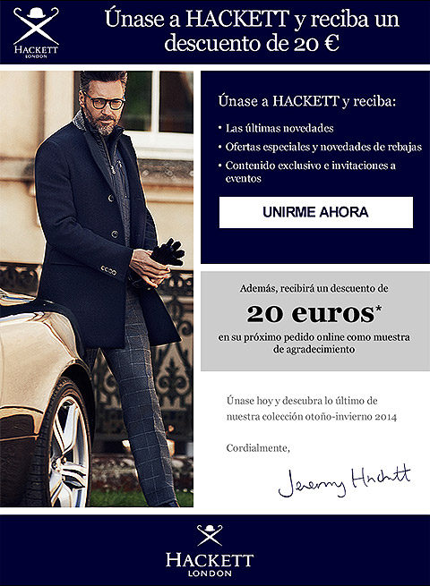 Hackett London Email Design