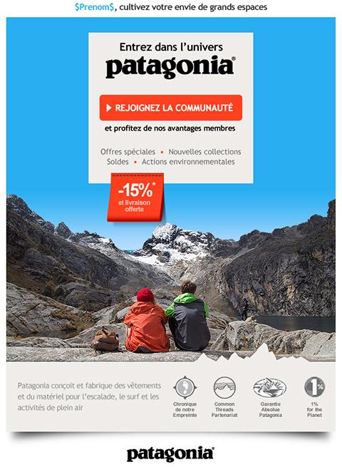 Patagonia Email Design