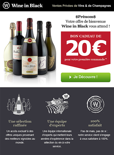 Email Wine in Black