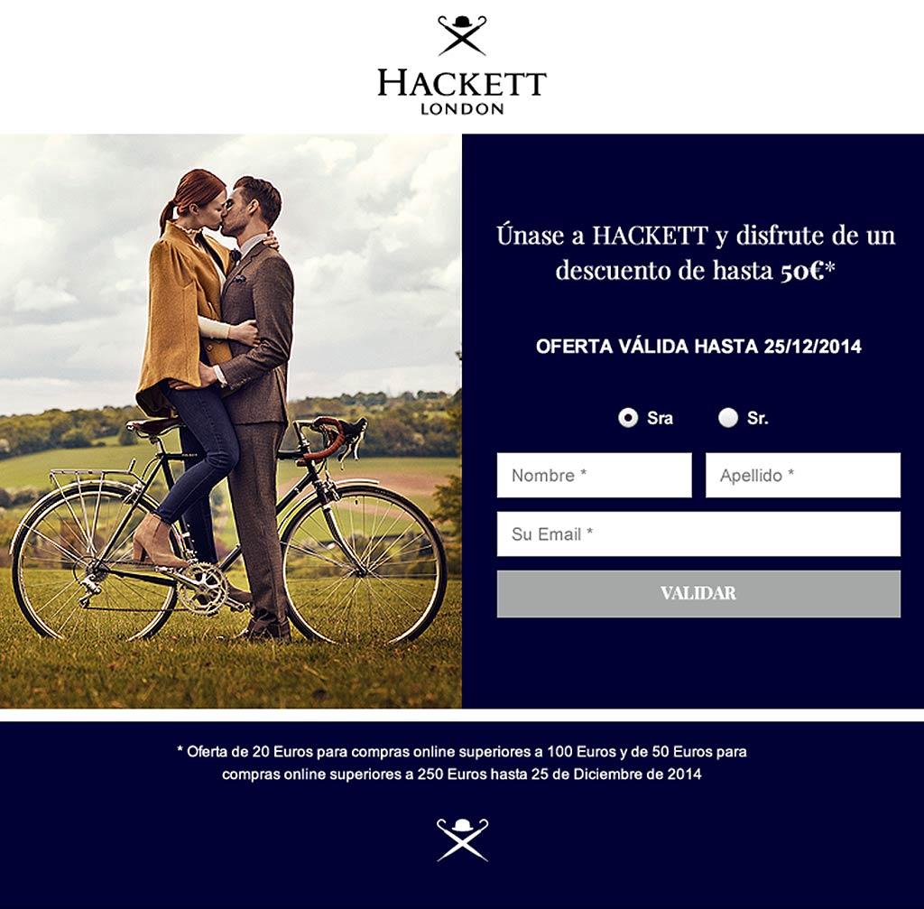 Hackett London Landing Page