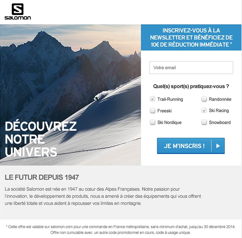 Salomon Landing Page