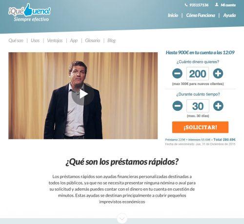 QuéBueno Landing Page