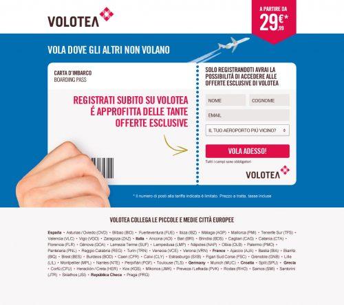Volotea Landing Page