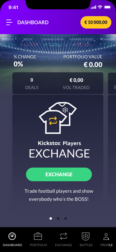 Dashboard v7 - Mobile - CARD 1 - Exchange
