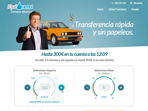 QueBueno Landing Page