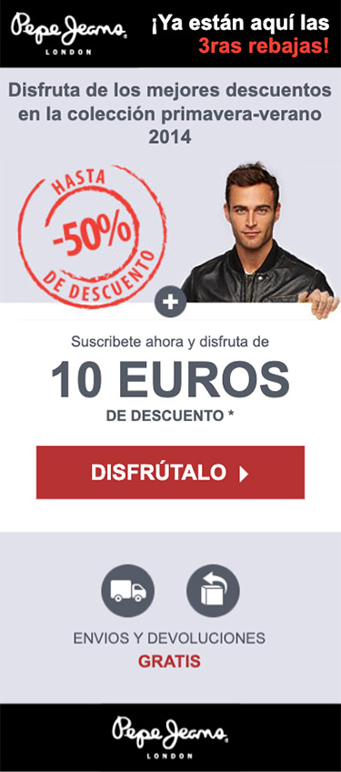 Pepe Jeans Email Mobile version Men