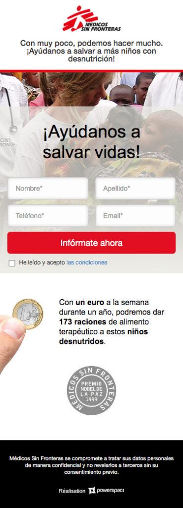 LP Medicos sin fronteras - Mobile
