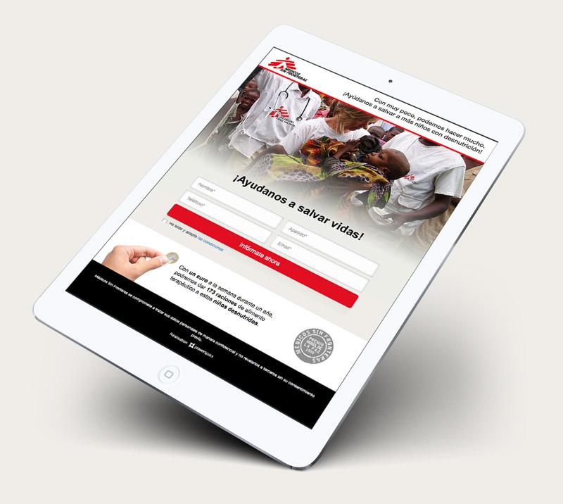 Medicos sin Fronteras Tablet mockup